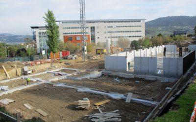 Enmacosa realiza el control de calidad y la asistencia técnica de la obra del 'Campus da Auga'