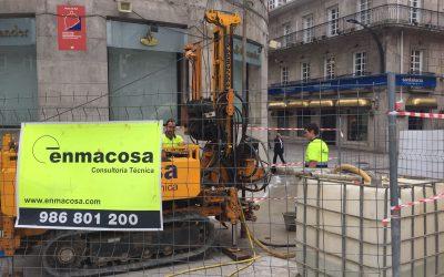 El futuro túnel de la Porta do Sol de Vigo comienza con un estudio geotécnico y la inspección de la estructura del actual parking subterráneo