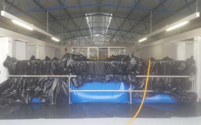 Prueba de carga para la plaza de abastos provisional de Ourense