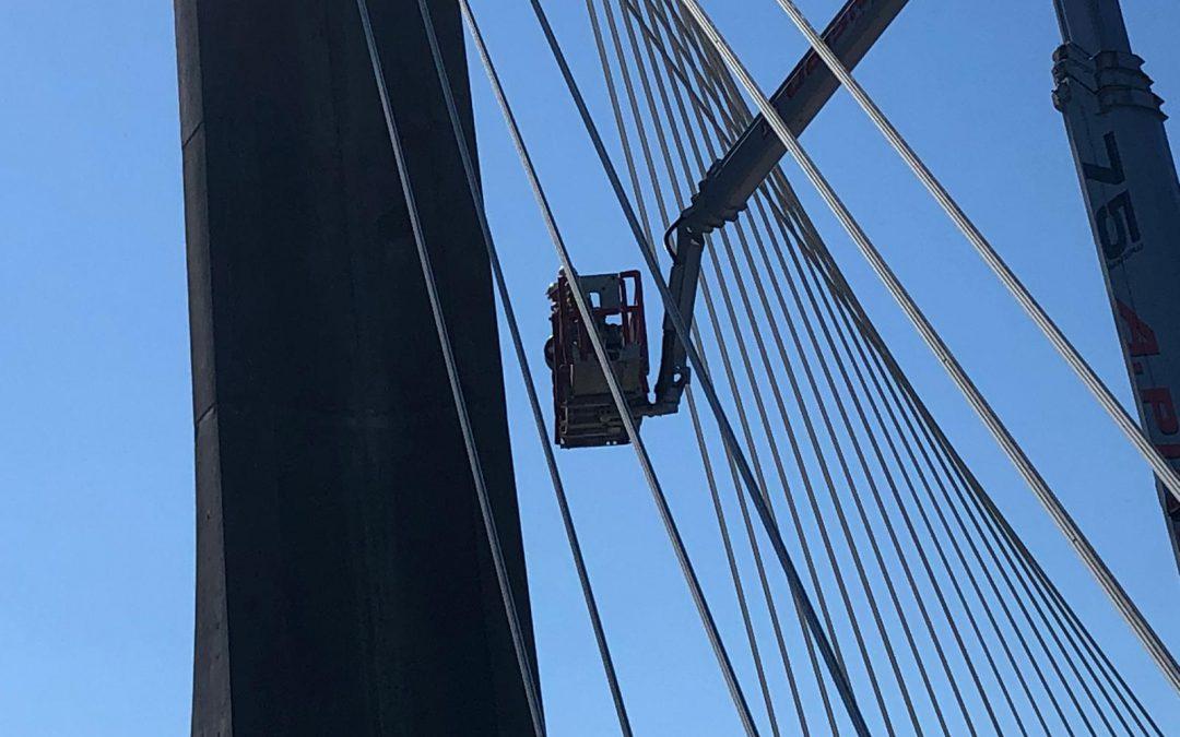 Enmacosa Consultoría Técnica inspecciona el estado estructural del 'Ponte dos Tirantes'