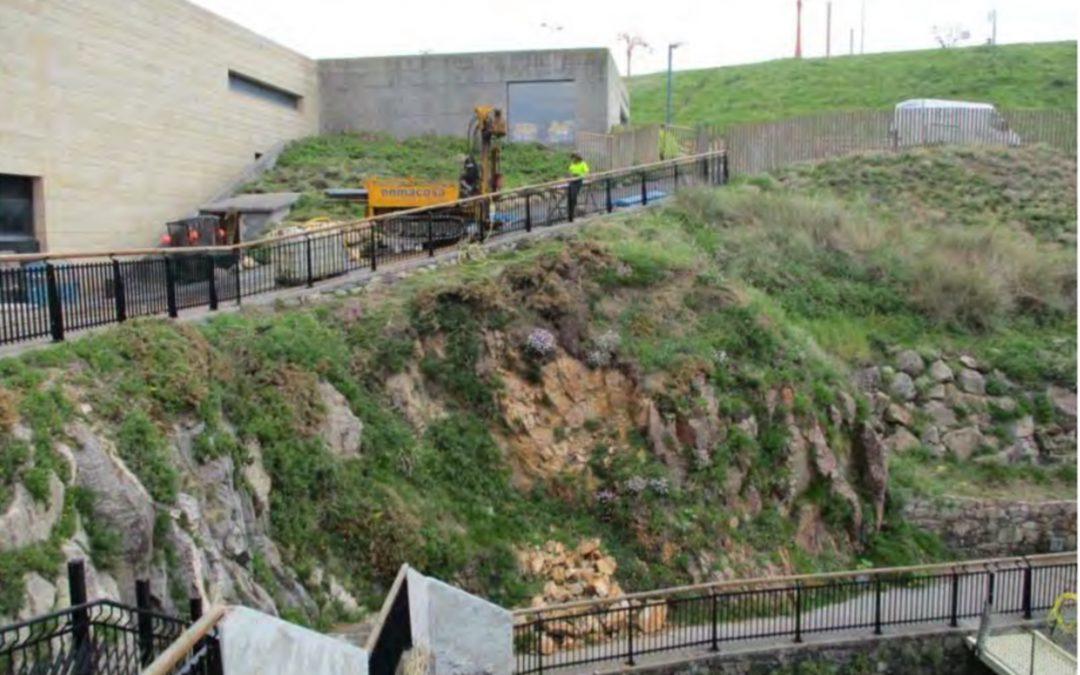 Tres soluciones de Enmacosa para mejorar la estabilidad de un talud en el acuario de A Coruña